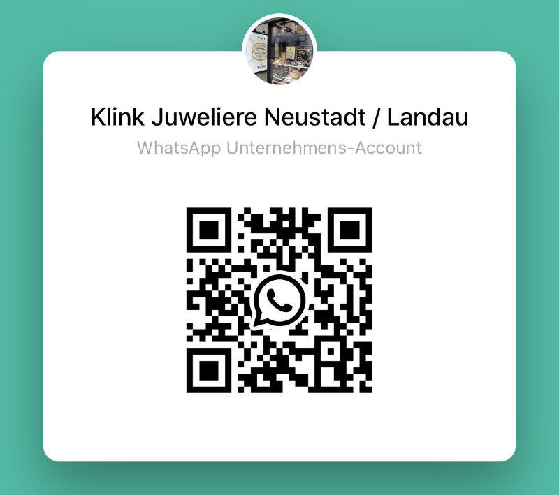 QR-Code zum Chatten via WhatsApp mit Juwelier Klink